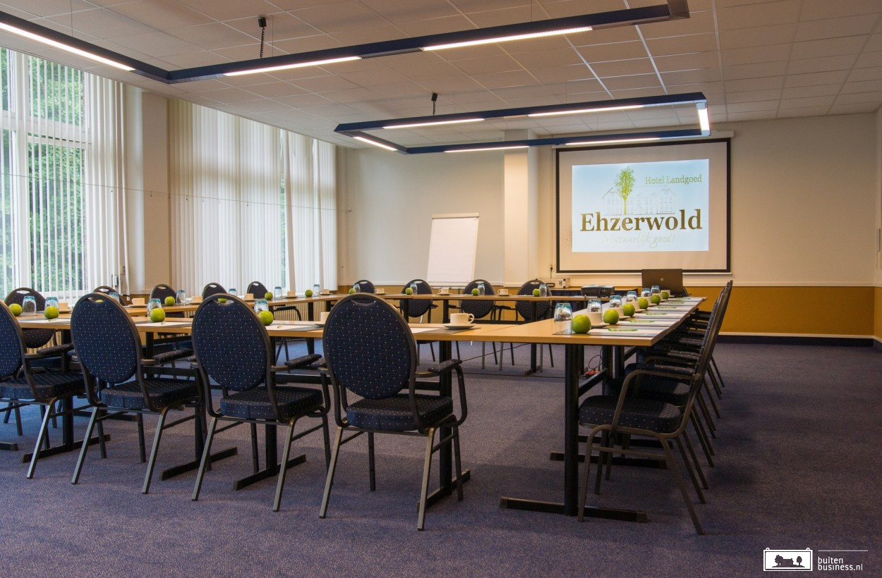 Landgoed Ehzerwold beschikt over 18 multifunctionele zalen, 11 break-out rooms en een theaterzaal.