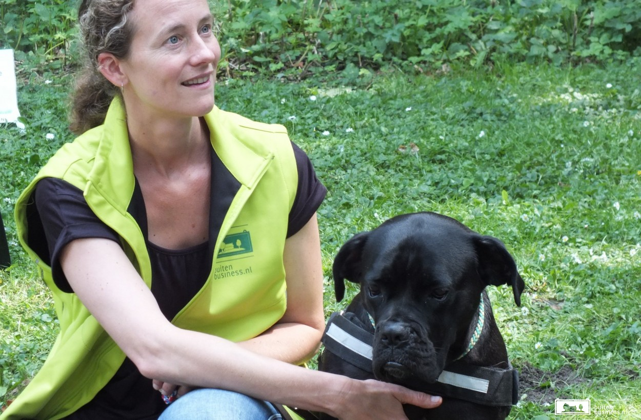Coach Suzanne met hond Angie